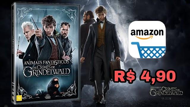 DVD Animais Fantásticos e os Crimes de Grindelwald por apenas R$ 4,90 no Amazon Prime Day