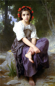 William-Adolphe Bouguereau At the Edge of the Brook. 1875 г.jpg