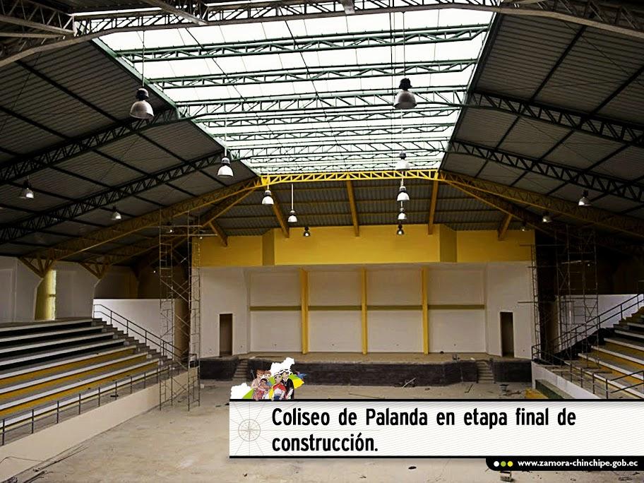 COLISEO DE PALANDA EN ETAPA FINAL DE CONSTRUCCIÓN
