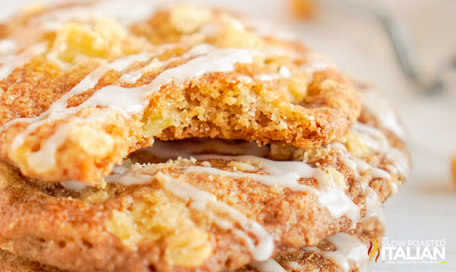 Apple Cookies with Streusel Topping
