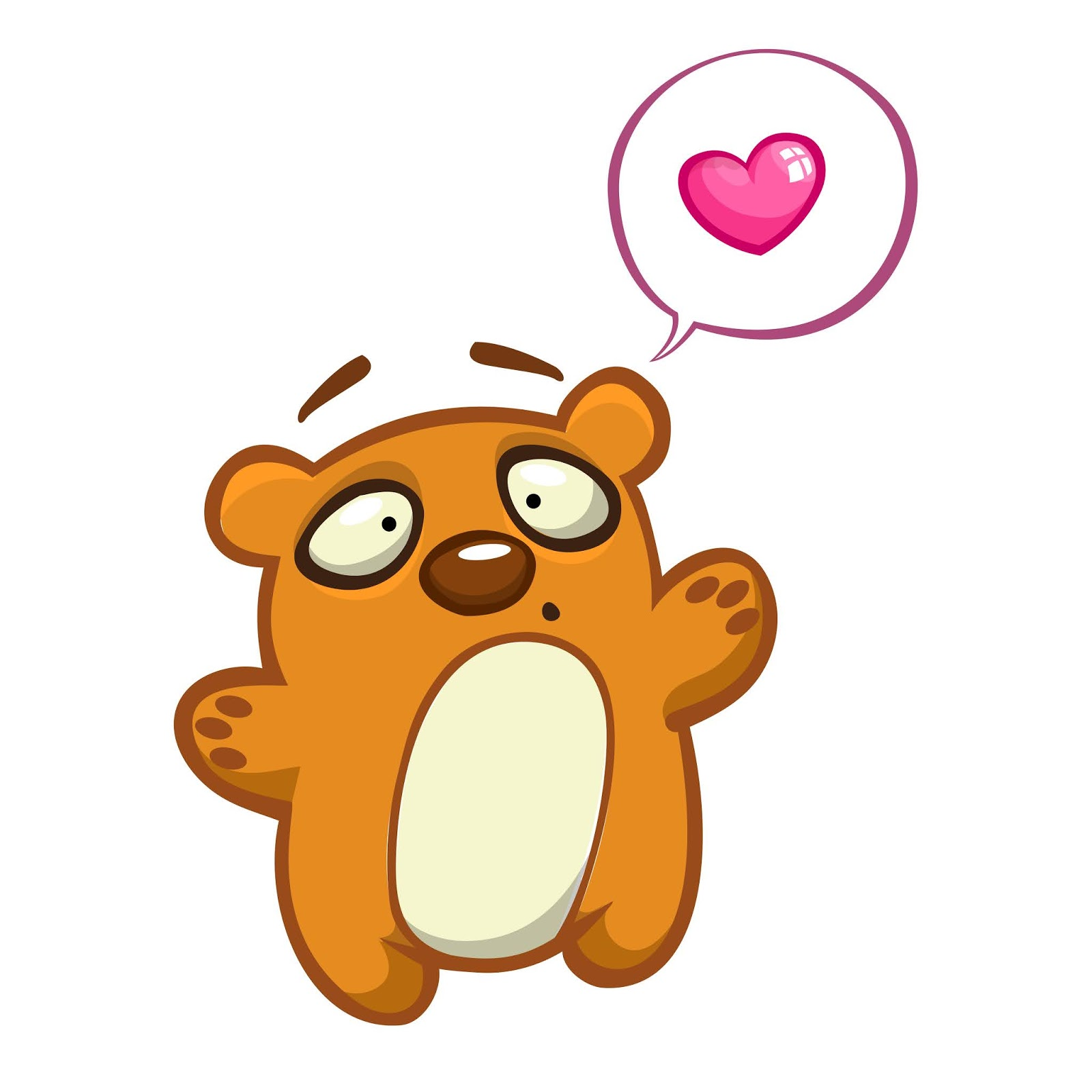 Cute Cartoon Bear Character Free Download Vector CDR, AI, EPS and PNG Formats