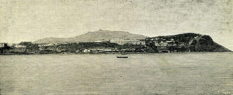 Ceuta. Vista tomada desde el Sur. De la revista NATURALEZA, CIENCIA E INDUSTRIA. Año 1891..jpg