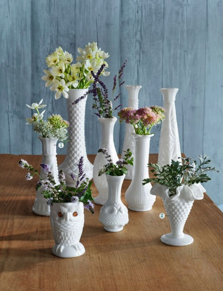 Milk glass 1 COuntry living