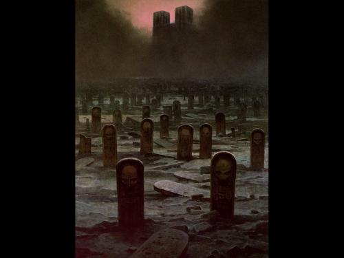 Zdzislaw Beksinski Funeral Tombs, Death