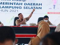 Rakor Bulanan Pemkab Lamsel, Nanang Soroti Kondisi Arus Mudik dan Zona Orange Covid 19 di Lamsel