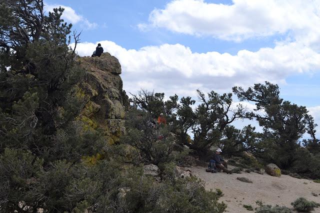 people around the peak