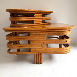 Bamboo and Beech Corner Table