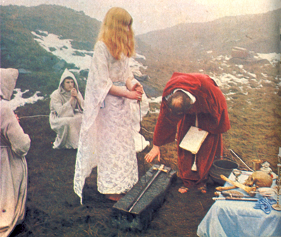Alex Sanders With Maxine In Winter Ritual, Maxine Sanders