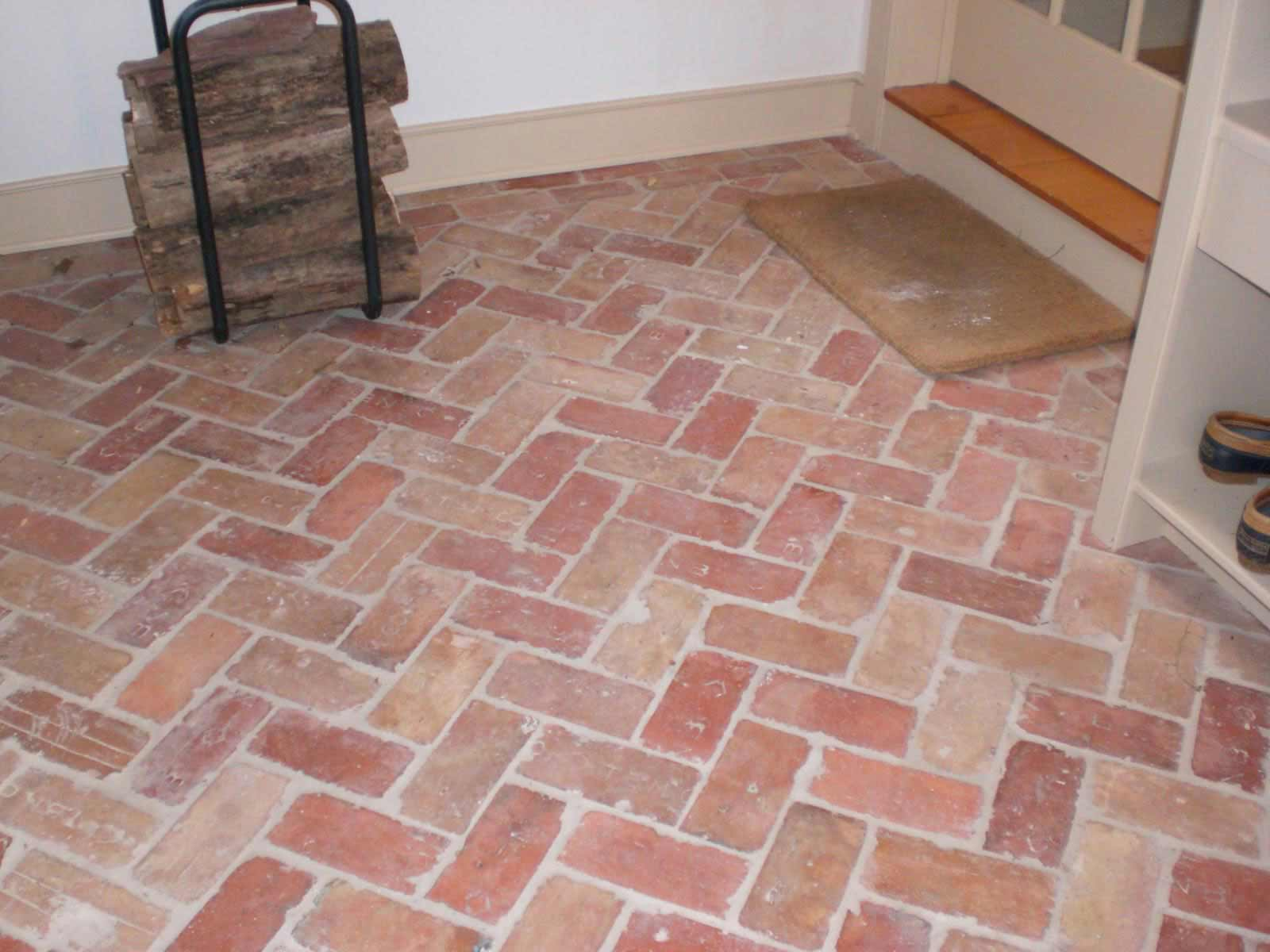 Puza wallpaper brick tile flooring cheap and easy brick floor dailygadgetfo Images