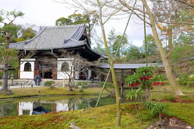 Kodaiji's Tsukiyama garden with Kaizando Hall