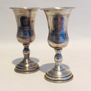 Sterling Silver Kiddush Cup Pair
