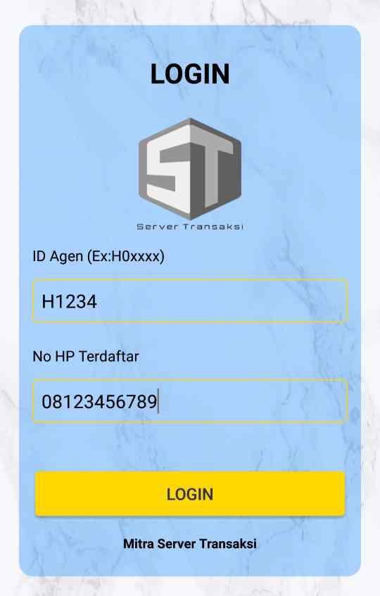 aplikasi Mitra server transaksi