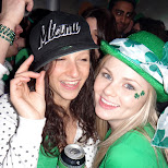 hat swaps at st. party's day in toronto in Toronto, Ontario, Canada