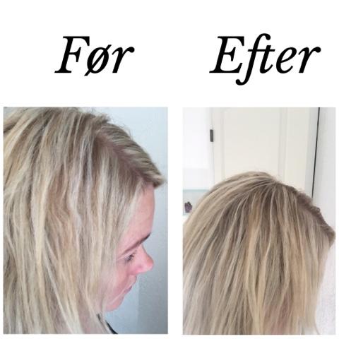 lyse striber i lyst hår