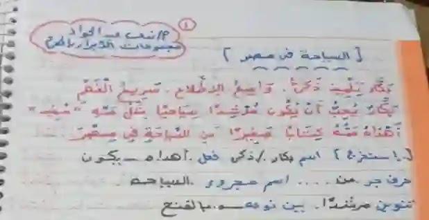 شرح درس السياحة في مصر للصف الرابع الابتدائي ترم أول