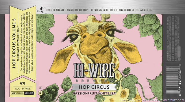Hi-Wire Brewing Adding Hop Circus Passionfruit White IPA Cans