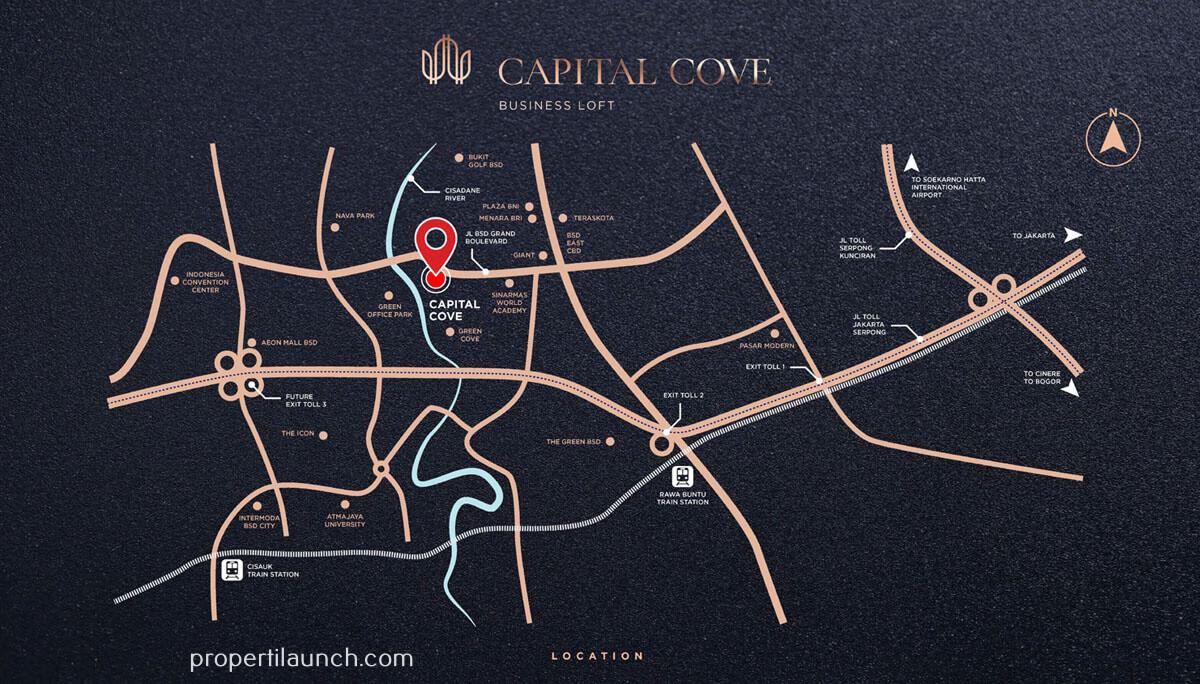 Lokasi Capital Cove BSD