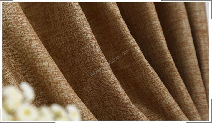 Rèm cửa đẹp hà nội một màu nâu vàng 6