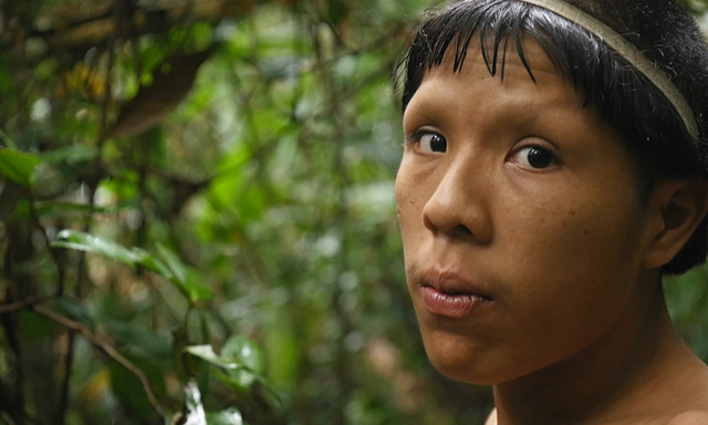Xina, the leader of Sapanahua tribe in Brazil. Photo: Alexander Houghton / Ronachan Films