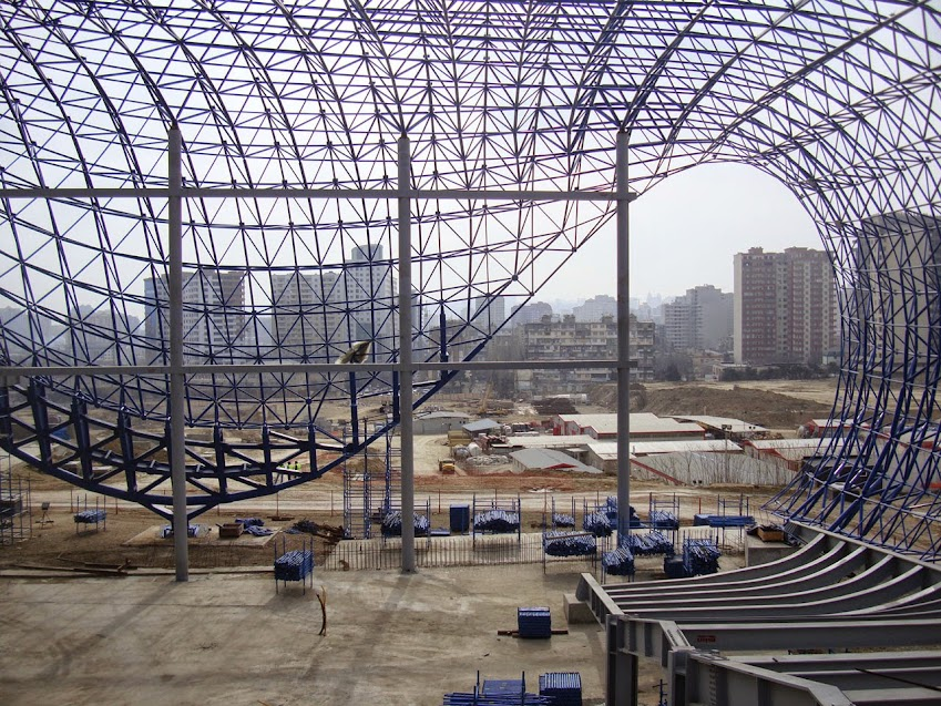 Giải pháp kết cấu giàn không gian sử dụng trong công trình Trung tâm văn hóa Heydar Aliyev