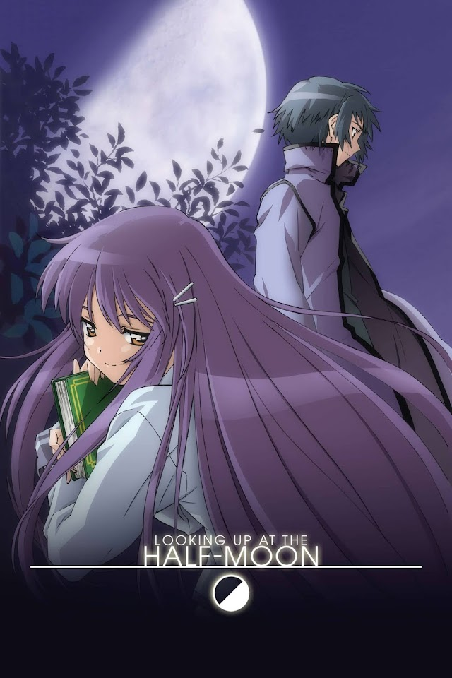 Looking Up at the Half-Moon