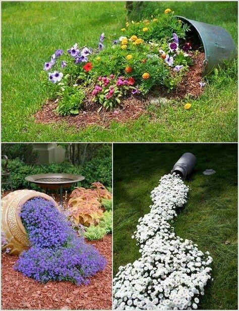 M s y m s manualidades decora tu jard n con recipientes for Decora tu jardin