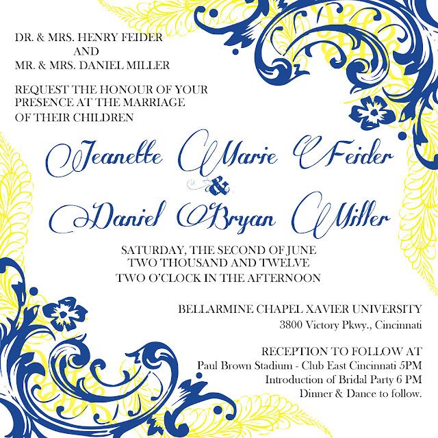Feider Miller Wedding Invite