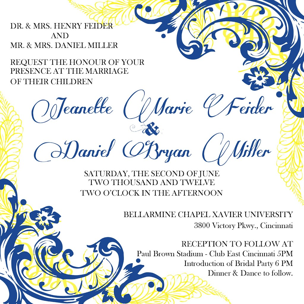 Feider Miller Wedding Invite