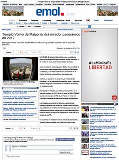 2-10-2011Templo Votivo de Maipú tendrá mirador panorámico en 2012 _ Emol