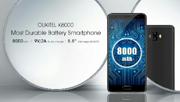 Oukitel K8000 - World's First Smartphone To Feature 8000mAh Battery
