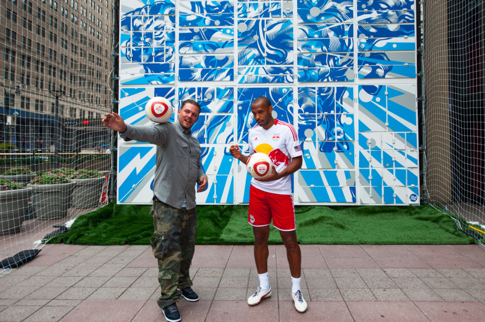 Red Bull Murals — NYC With Thierry Henry & Tristan Eaton
