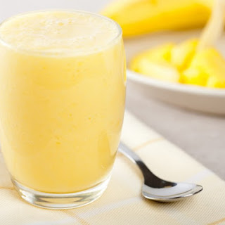 Vanilla Ice Cream And Pineapple Smoothie