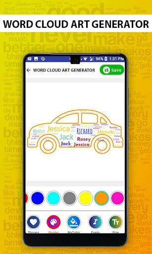 Word Cloud Art Generator screenshot 4
