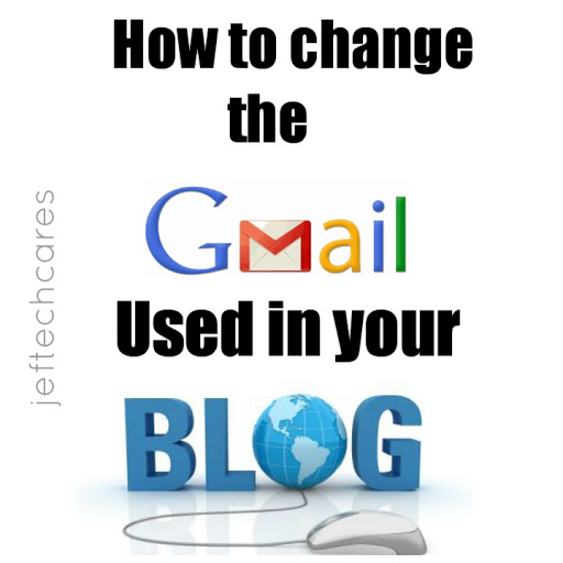 How to change the Gmail used in your blog