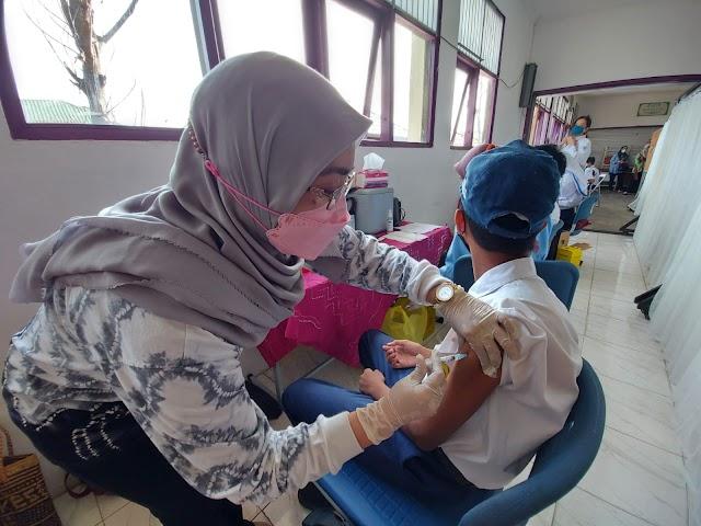 Ini! Persentase Capaian Vaksinasi Pelajar di Banjarmasin