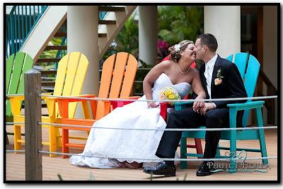 Wedding Couple at Sunset Vistas in Treasure Island