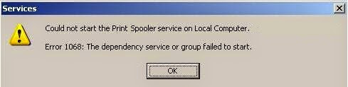 How to fix Print Spooler error 1068
