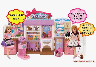Mo hinh cua hang Pet Shop cho Licca