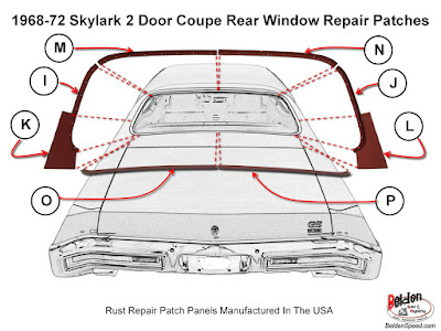 rear window rust repair,window channel patch panels,Chevelle,Monte Carlo,GTO,LeMans,Tempest,Cutlass,Camaro,Firebird,Beldenspeed,Belden Speed & Engineering,F Body,A Body,Skylark,Nova,El Camino,Grand Prix,windshield channel,Second Gen,Gen 2