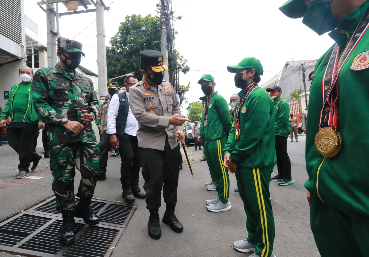 Forkopimda cek karantina Atlet PON Kontingen Jatim sepulang dari Papua