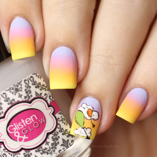 Oh the places you'll go freehand nail art bruisedupdollie