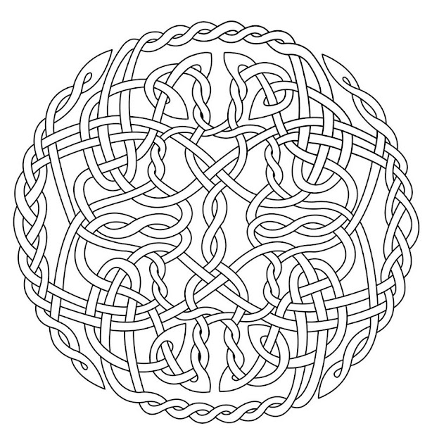 Mandala Art Free Coloring Pages  Celtic Circle Coloring By Artistfire  On Deviantart