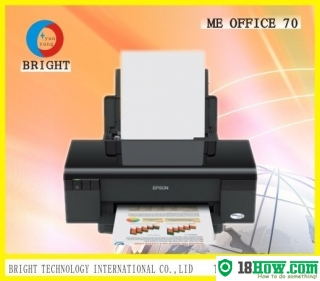 How to reset flashing lights for Epson ME-70 printer