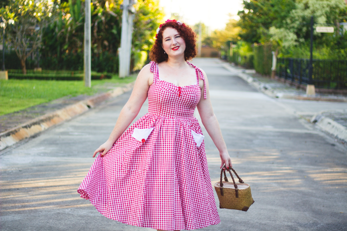 Red gingham sundress by Sisjuly Retro | Lavender & Twill