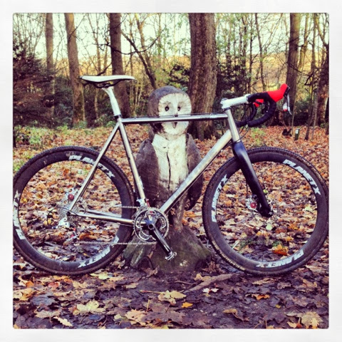 Alan's On-One Pickenflick Cyclocross bike in the woods