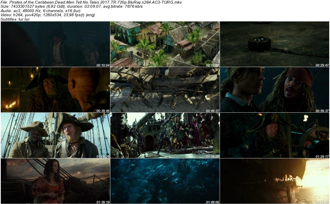 Karayip Korsanları Salazarın İntikamı 2017 - 1080p 720p 480p - Türkçe Dublaj Tek Link indir