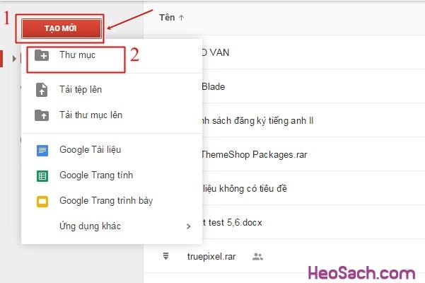 Hình 5 - Hướng dẫn sử dụng Google Drive để lưu dữ liệu