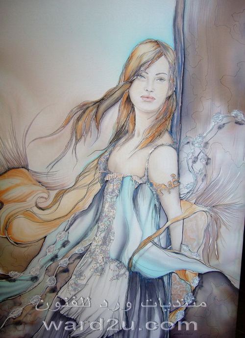تصميمات رائعة رسم على الحرير