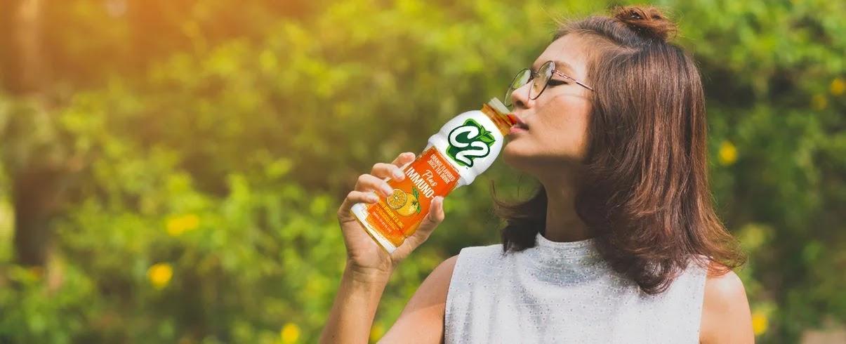 Drinking C2 Plus Immuno-C