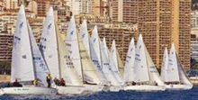 J/24 one-design sailboats- sailing in Monaco